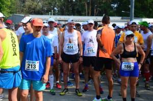Darek Andrzejczak przed startem półmaratonu.