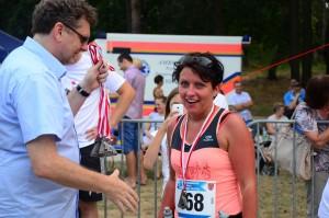 Ewa Celmer - duma z ukończenia pierwszego półmaratonu i gratulacje od burmistrza.